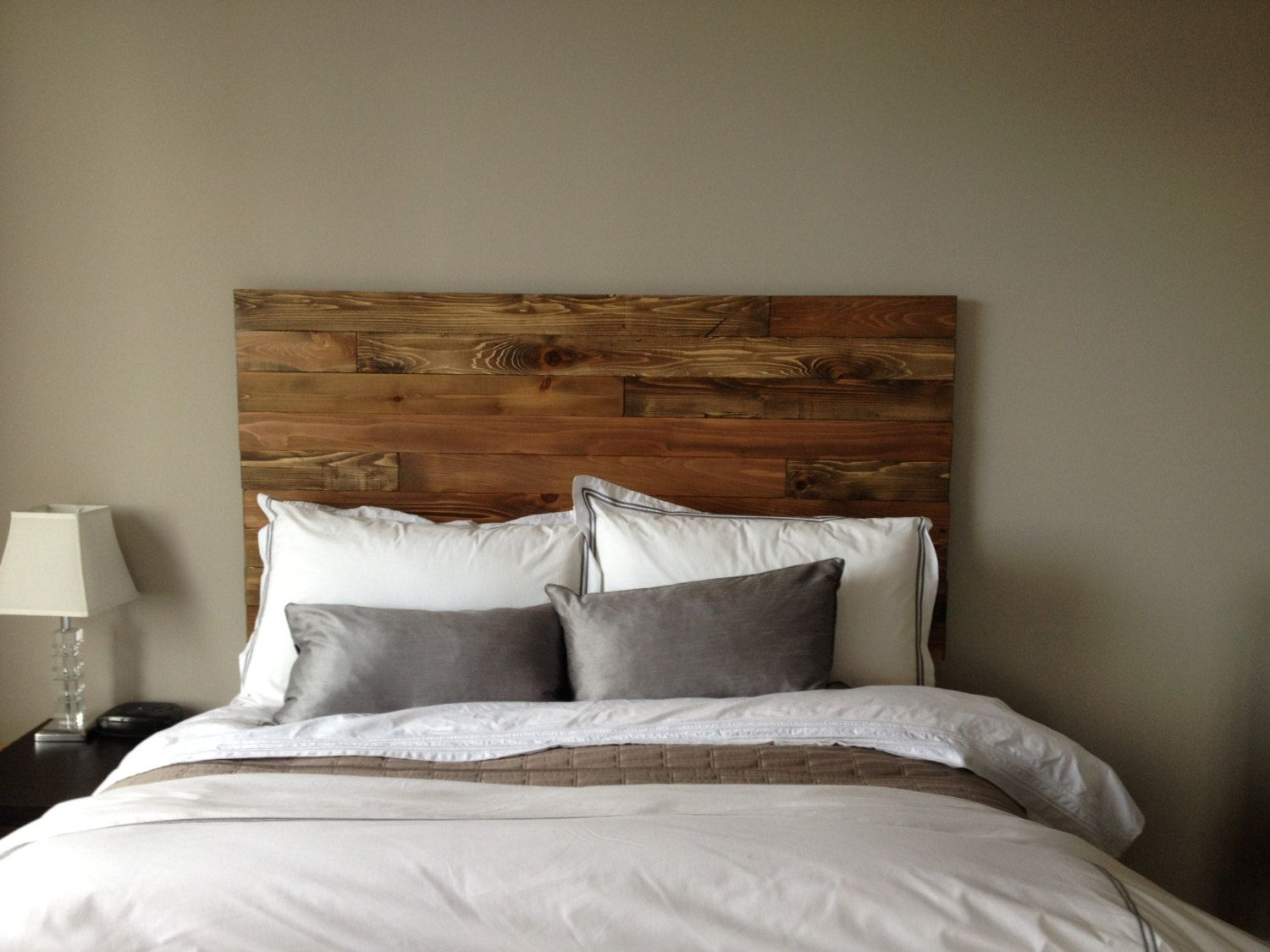 59 Incredibly Simple Rustic Décor Ideas That Can Make Your: Cedar Barn Wood Style Headboard (KING SIZE)