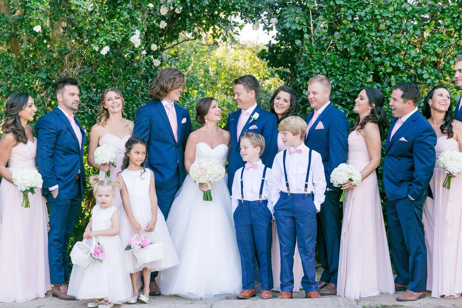 Navy Blue Suits With Soft Pink Bridesmaid Dresses Blush Ivory Navy Gold Fall W Blush Pink Bridesmaid Dresses Pink Bridesmaid Dresses Pink Wedding Dresses