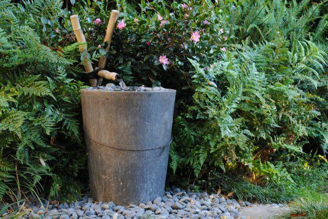 Idee Deco Pour Le Jardin Optez Pour Une Fontaine En Bambou