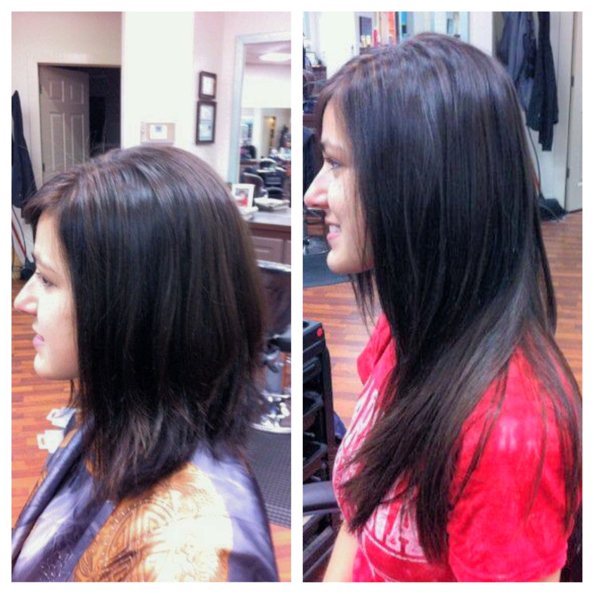 Before And After Extensions Lex Moore Style House Salon Nashville Tn Panache Hair Salon Florence Sc Hair Styles Long Hair Styles Hair