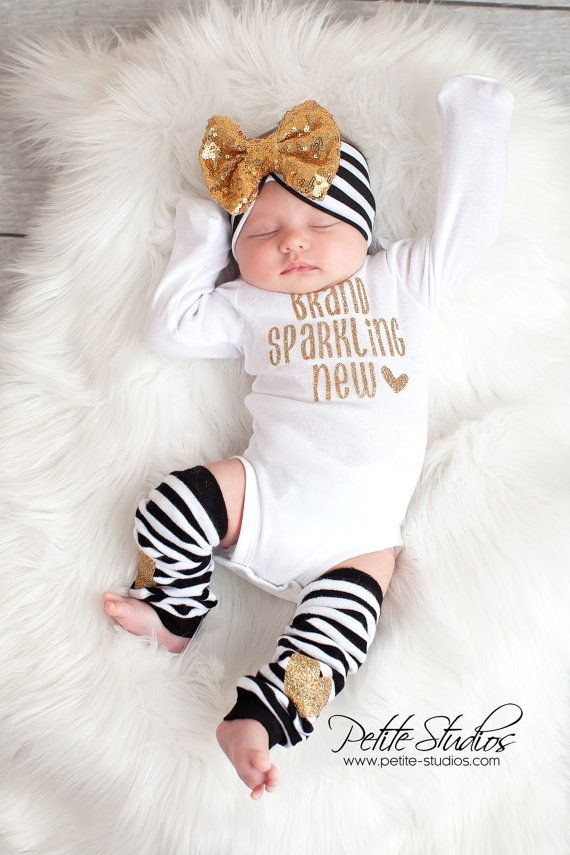 5961839dfe20 Newborn Girl Take Home Outfit Baby Girl outfit Baby by SkylarnMe