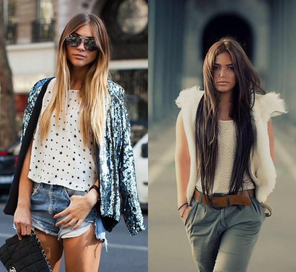 How To Style Long Hair Streetstylemiddlepartedlonghair 1200×1104  Fryzury
