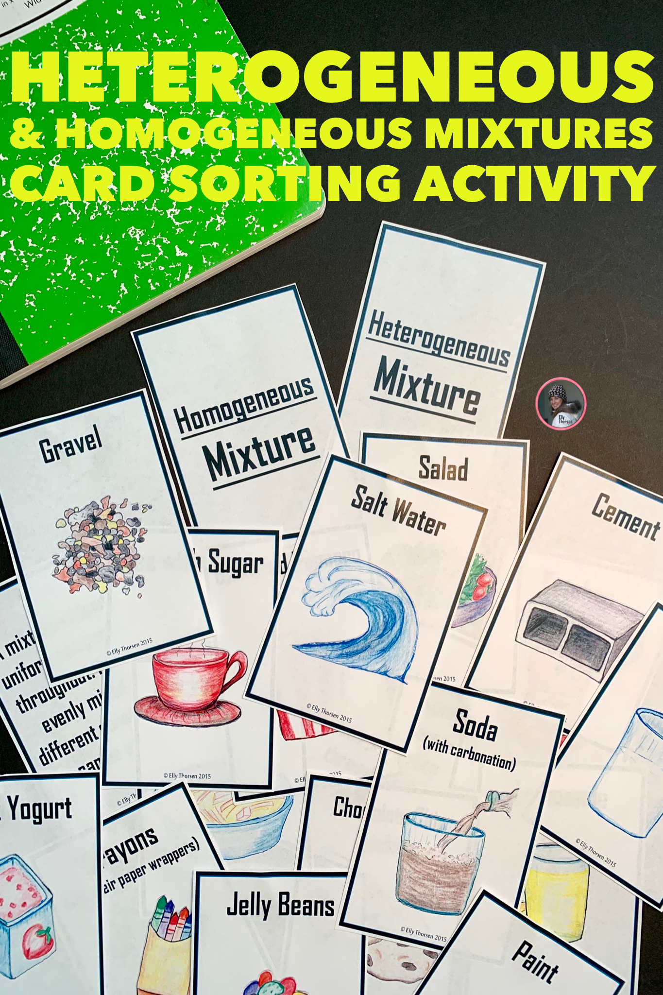 Homogeneous And Heterogeneous Mixtures Card Sorting