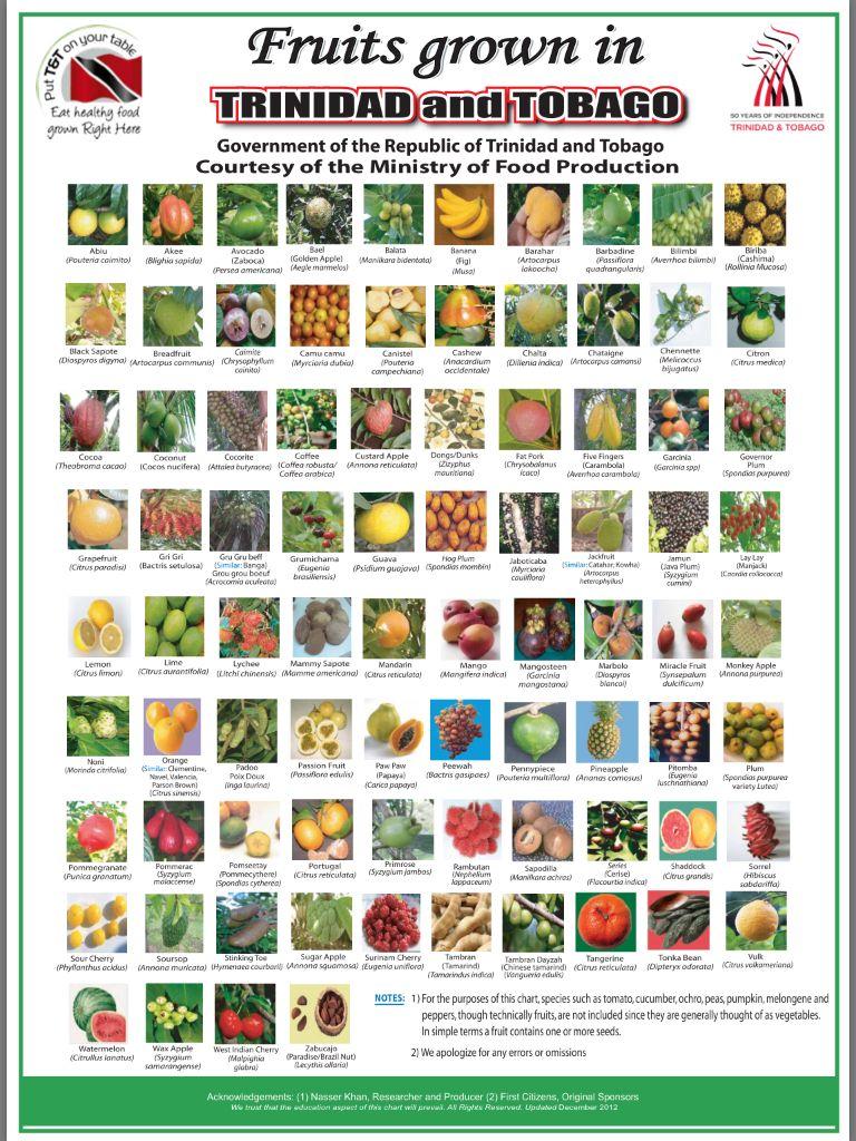 Fruits Of Trinidad Tobago Trinidad Recipes Trinidad Tobago
