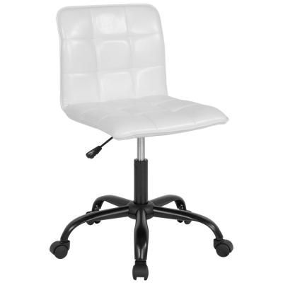White Leather Office Desk Chair