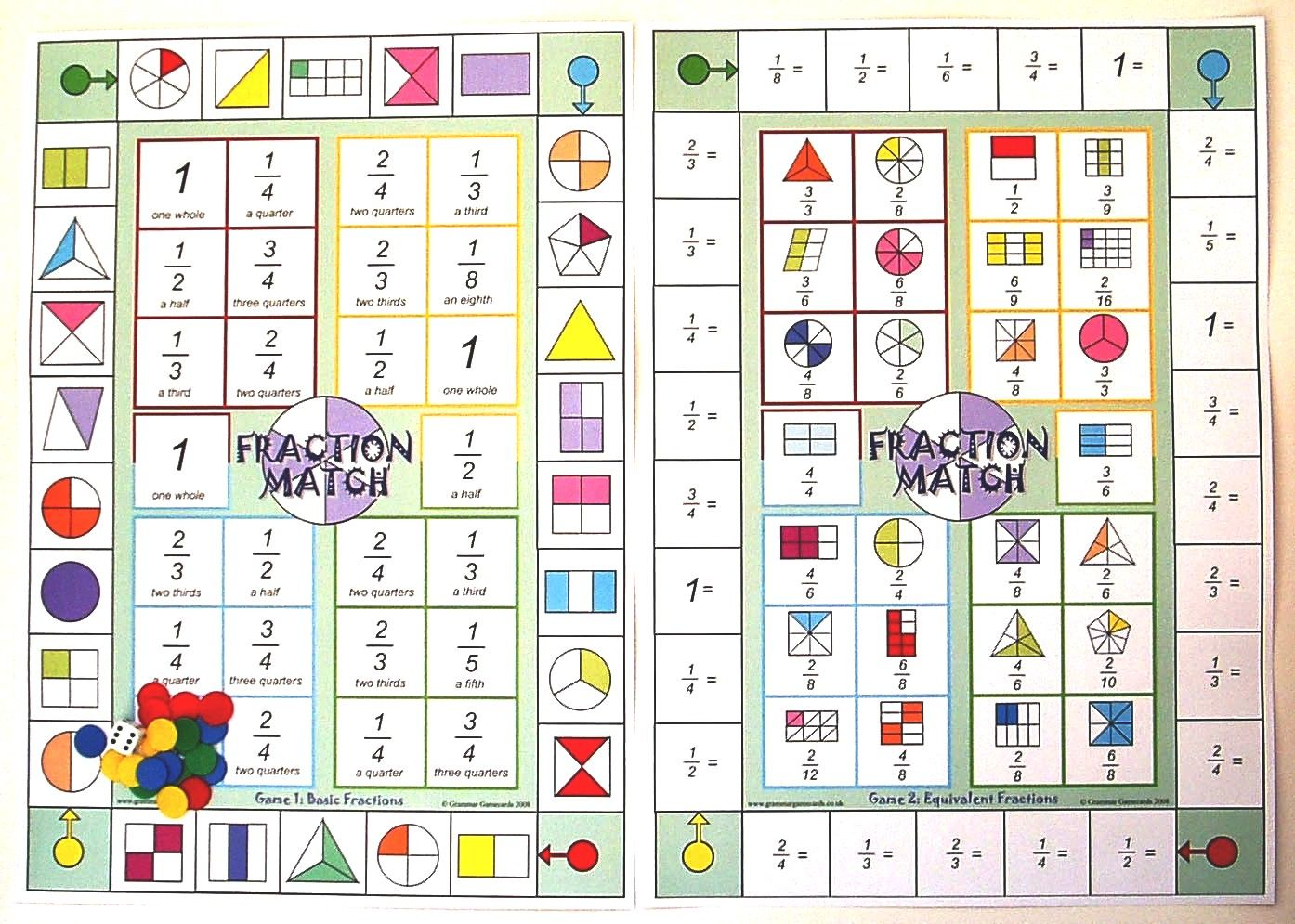 Image of Fraction Match Board Game | Maths | Pinterest | Math and ...