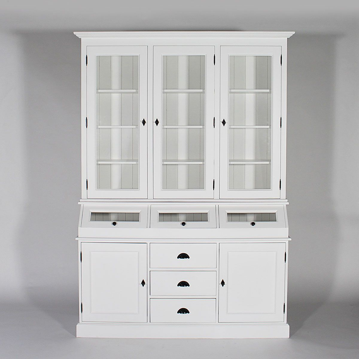 Meuble Vaisselier Deux Corps En Pin Massif Blanc Made In Meubles La Redoute China Cabinet Furniture Home