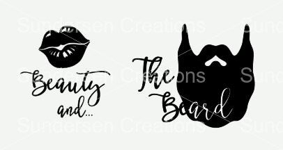 Download Beauty and the Beard SVG & DXF File by SundersenCreations ...