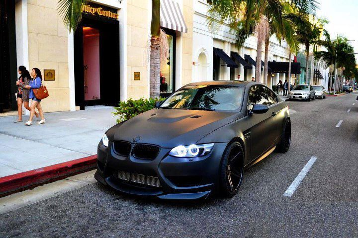 Matte Black E92 Bmw M3 With Images Luxury Cars