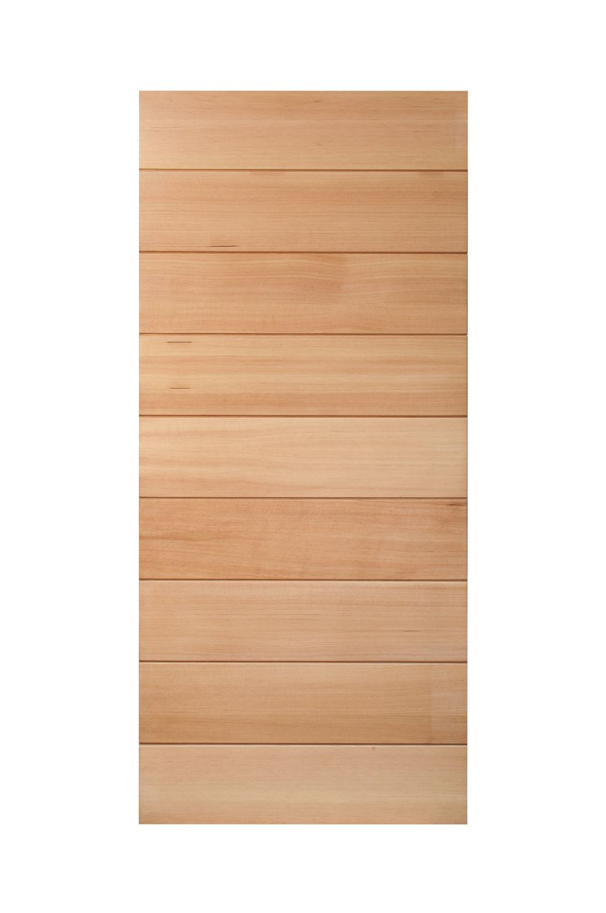 Douglas Fir Horizontal Plank Barn Door Real Sliding Hardware