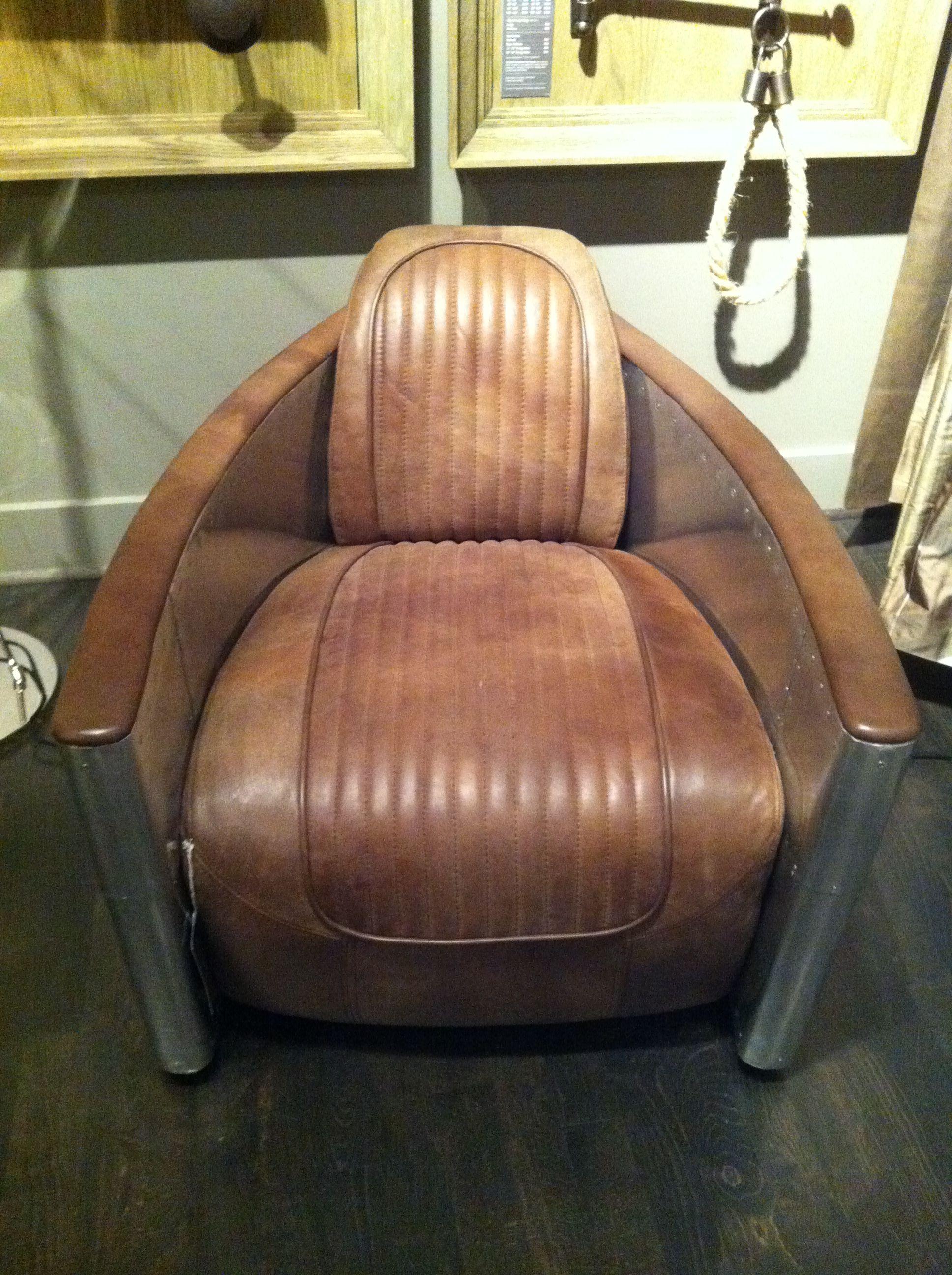 Restoration Hardware Aviation Chair Vintage Industrial