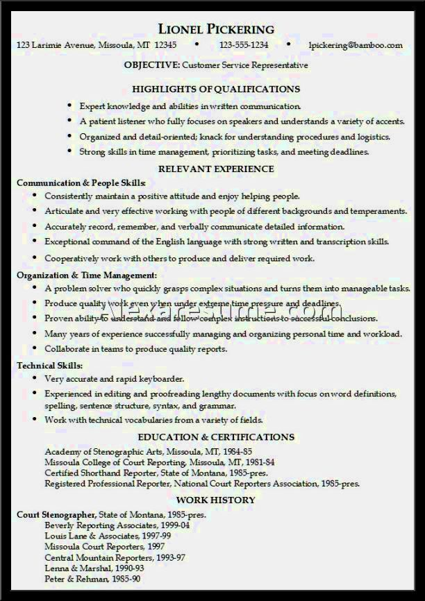 example of resume objective for sociology major resume template cover letter - Stenographer Resume