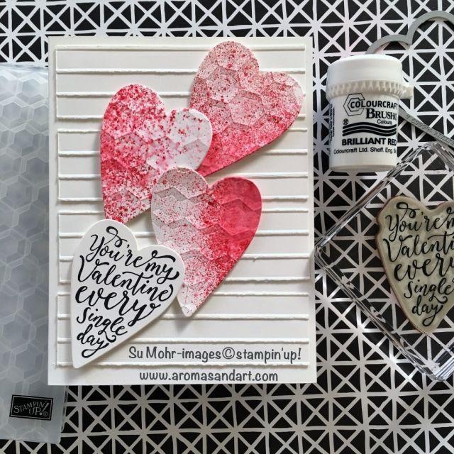 Stampin\' Up U-Tube Brusho Video and My Brusho Valentine Hearts ...