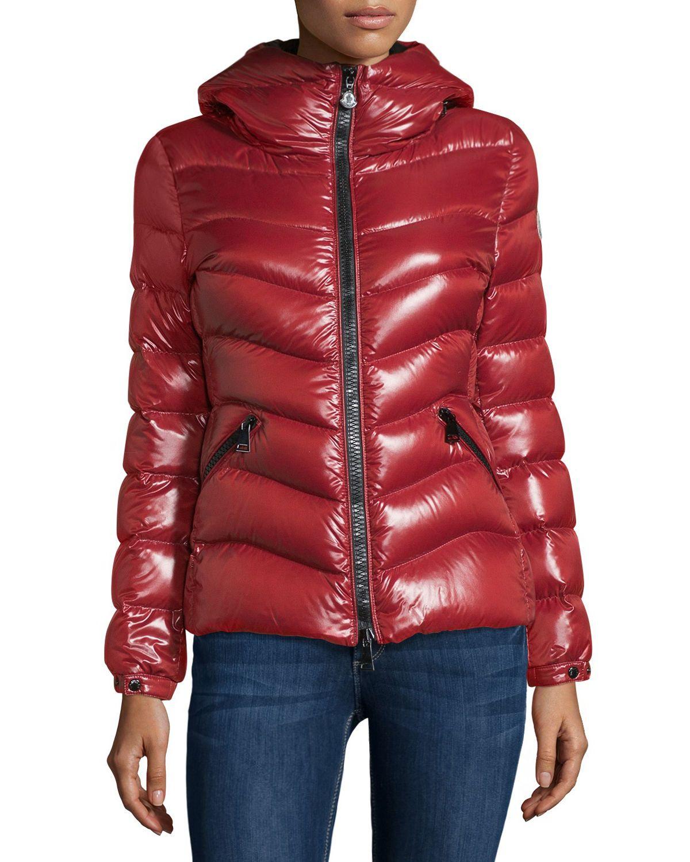 2ea0b6e26 Moncler Anthia Hooded Wave Puffer Jacket