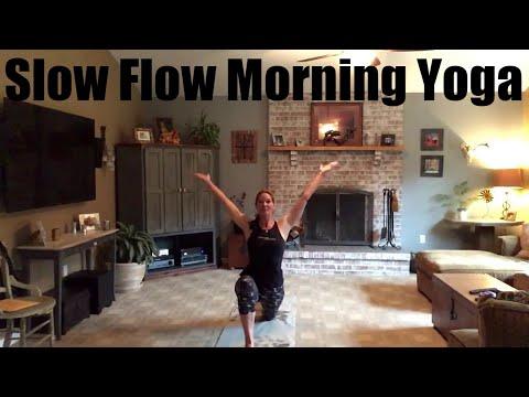 slow flow sun salutation  youtube in 2020  sun