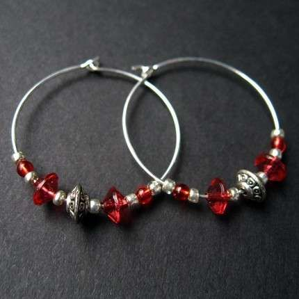 Beaded Hoop Earrings For Women Azixozo