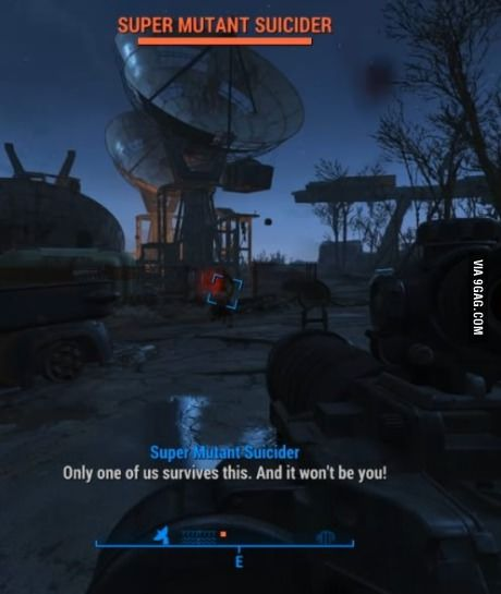 I don't think this Super Mutant understand his job...