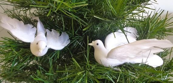 White Dove 6 inch Flying per THREE for Christmas, Weddings, Church Decoration #churchitems