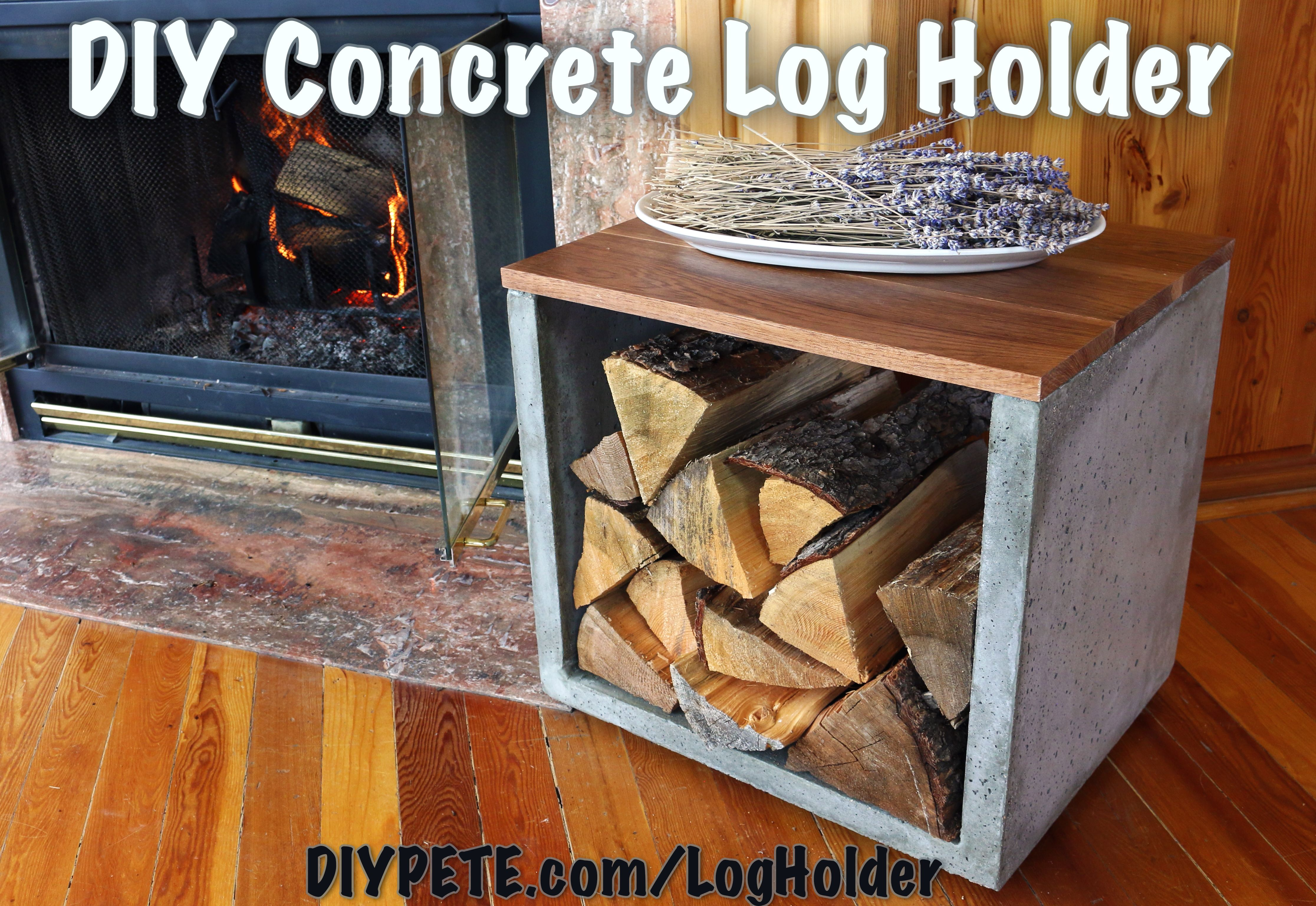 How To Make A Concrete Log Holder Scrapworklove