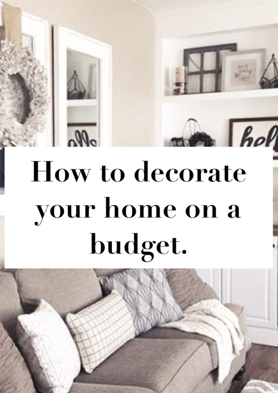 Tips for decorating your home without breaking the bank indoor
