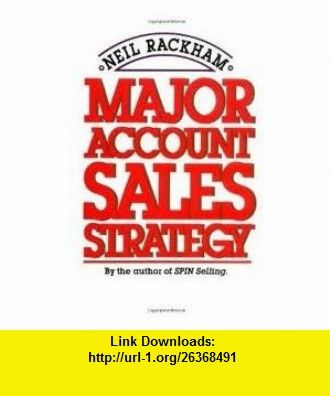 Major account sales strategy 1st first editon text only neil books fandeluxe Choice Image