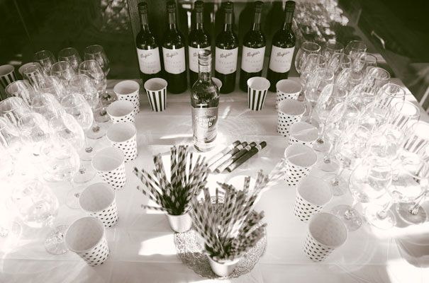 Wine, cigars, cute straws - what more could you want for a celebration?