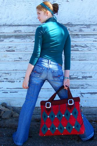 Rodeo Gal Satchel cover of Knitter's Spring 2006 designed by Marta McCall of TinkkniT.com by TinkkniT.com, via Flickr