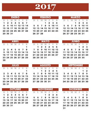 almanaques almanaque 2017 карточки pinterest
