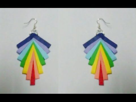 quilling paper earrings new design - quilling paper Earrings Making Tuto...