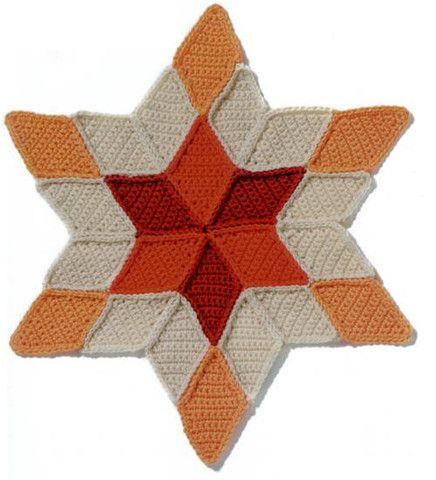 Neat, crochet star applique