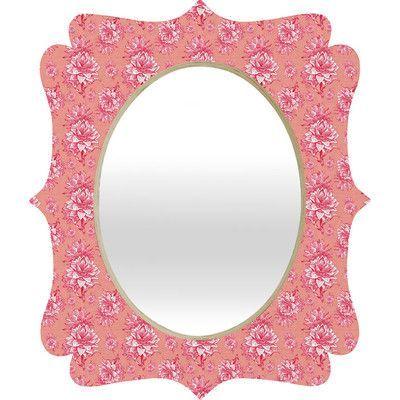 DENY Designs Caroline Okun Artichoktica Rosa Wall Mirror Size: Small