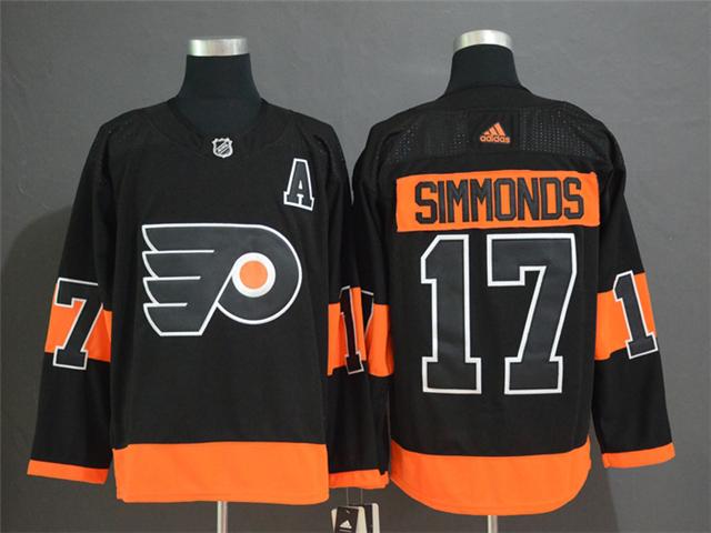 wholesale dealer 49996 92387 Philadelphia Flyers #17 Wayne Simmonds Black Alternate ...