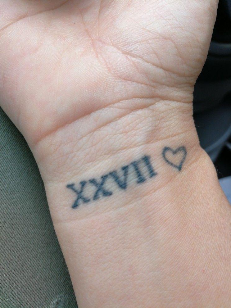 Tatuaje Fecha Dia Fallecimiento De Un Ser Querido Y Nacimiento