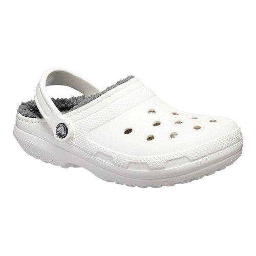 8aafd77a8 Crocs Classic Lined Clog - White Grey Clogs