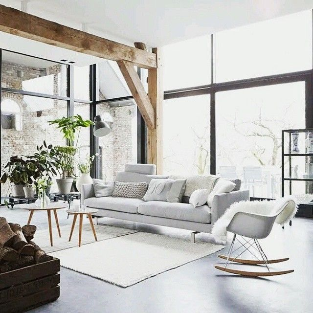 Like the exposed wood | in-side | Pinterest | Wohnzimmer ...
