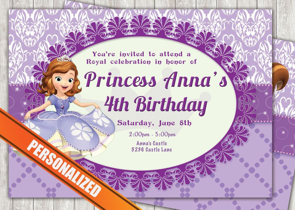 Princess Sofia Greeting Card PC039