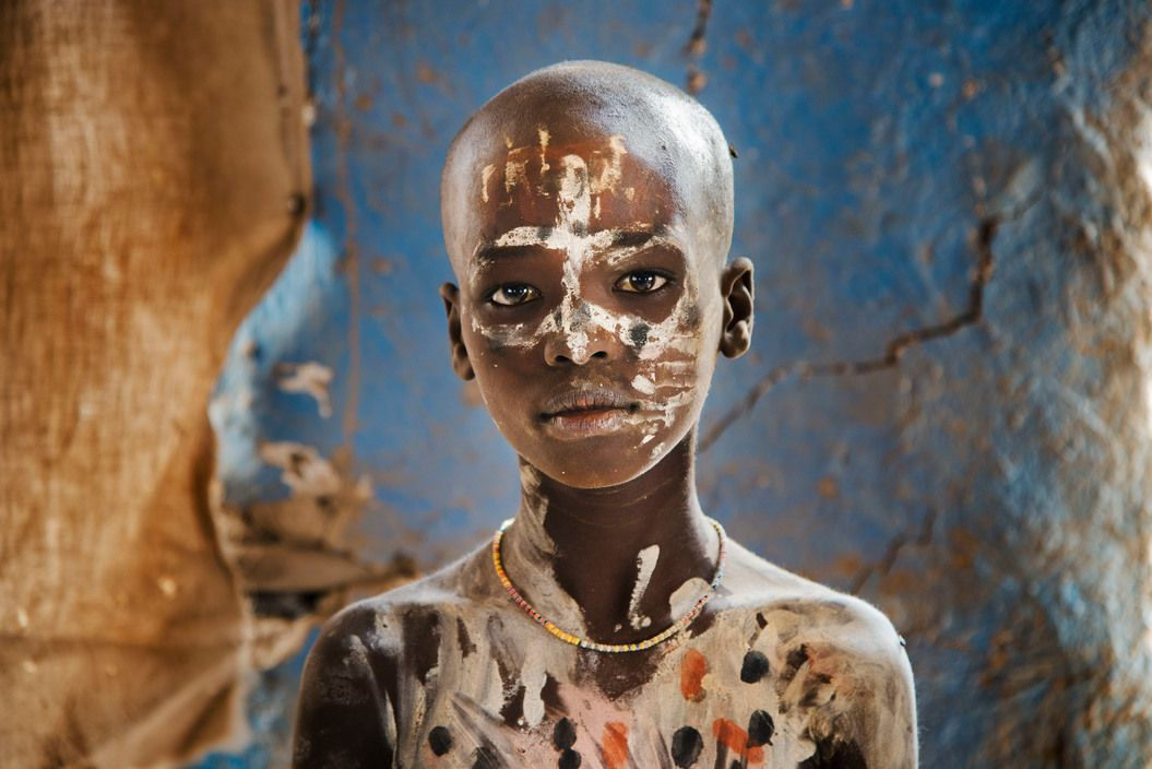 A boy in Ethiopia.  Hamer Tribe, Omo Valley,  Africa, 2012, by Steve McCurry.