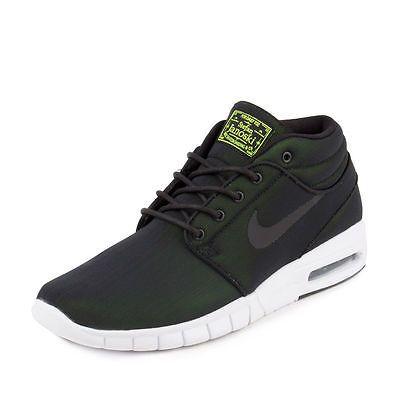 30d59c3f75 Nike SB Stefan Janoski Max Mid Mens 807507-007 Black Skateboard Shoes Size  8.5