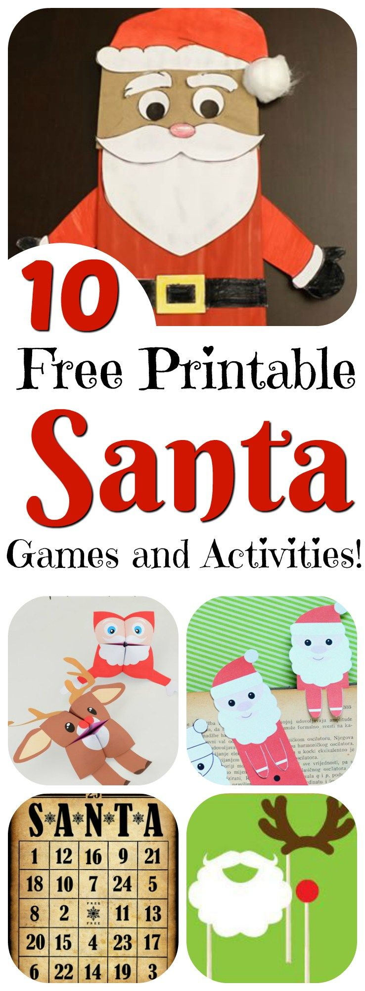 Printable Santa  Fun Games  Activities  Santa Crafts Santa And