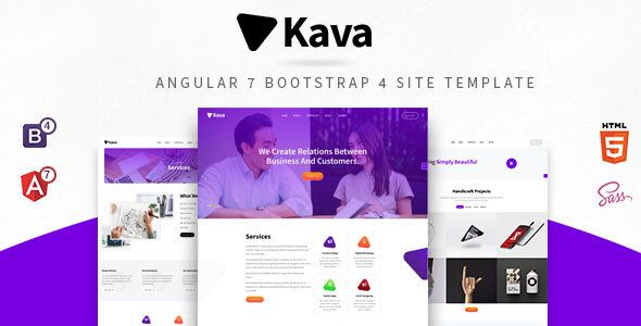 Kava : Angular 7 Bootstrap 4 Template | Best Premium WordPress