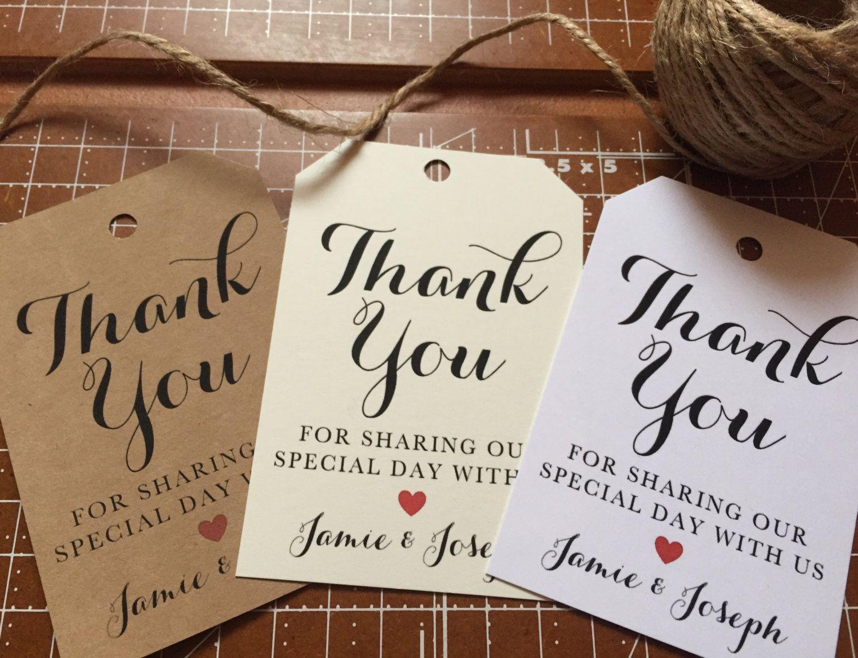 Wedding #ThankYou #Favor #Tags, Wedding #FavorTags, Favor Tags with ...