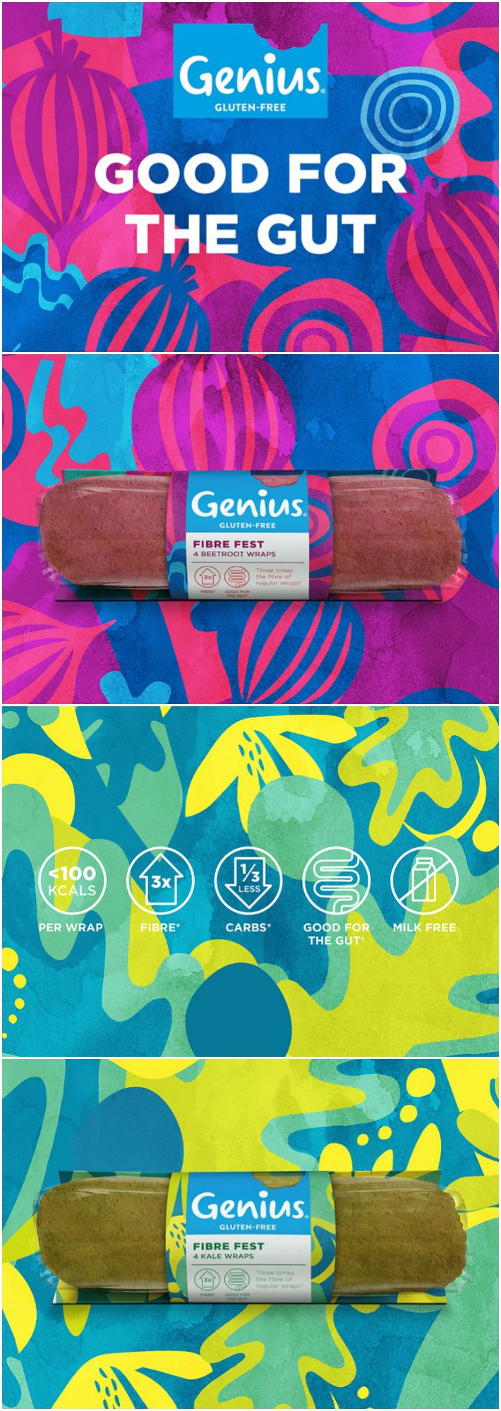 Dynamic Identity for New Genius 'Good for the Gut' Range