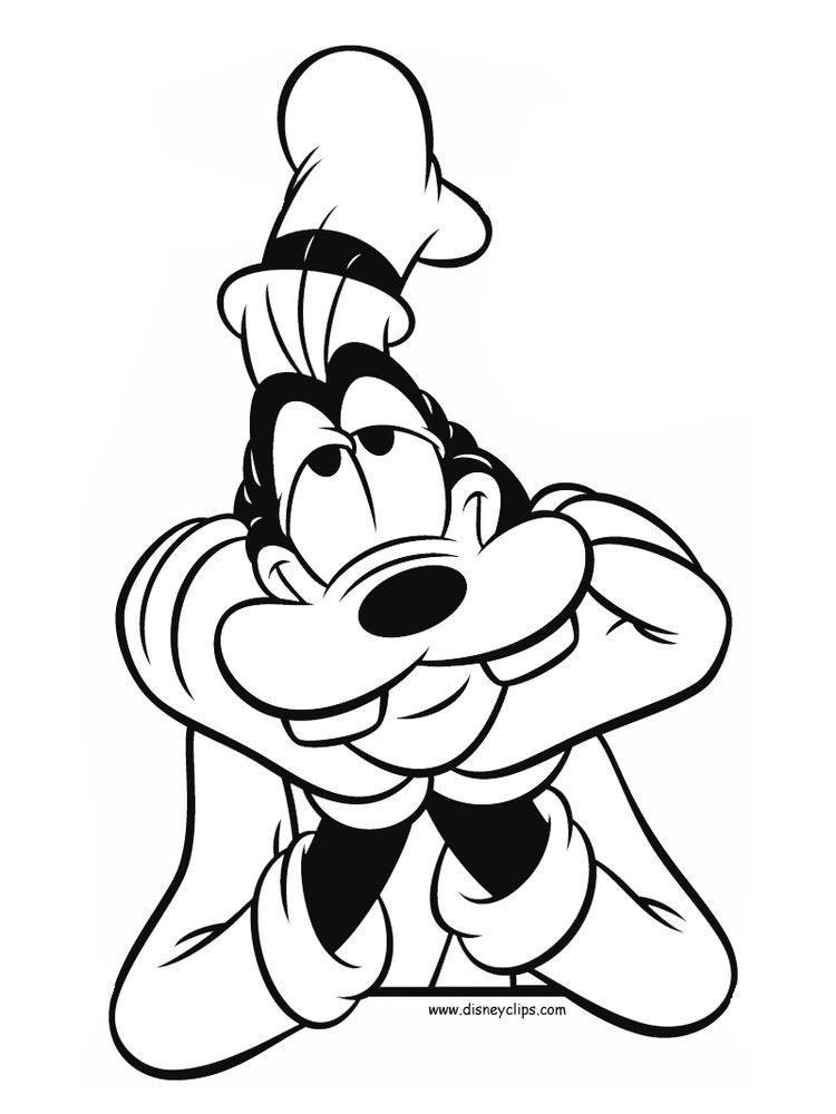Goofy Coloring Pages To Print For Free Disney Character Drawings Disney Coloring Pages Cartoon Coloring Pages