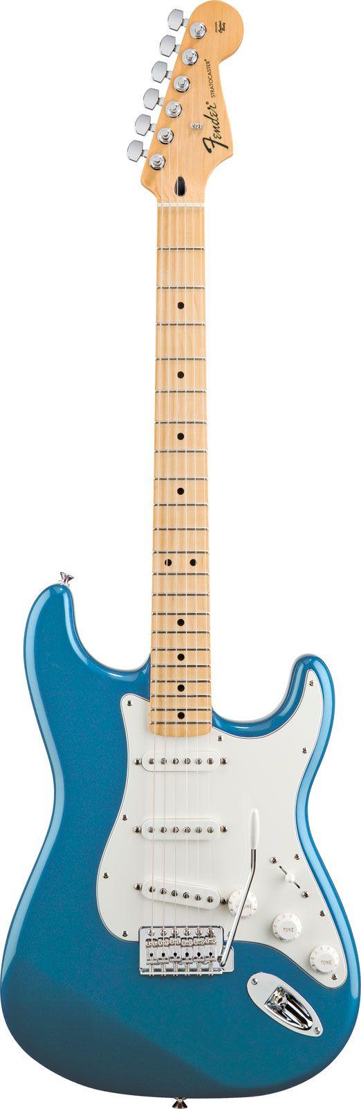 Fender Standard Stratocaster HSS Lake Placid Blue Maple   Teal green ...