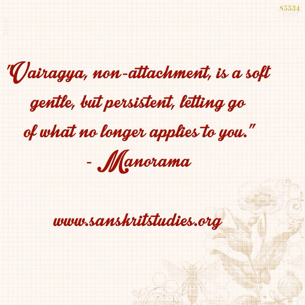 manorama's definition of vairagya #yogasutra | luminous soul method