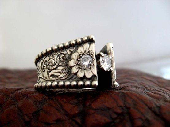 Western wedding ring...Made by Travis Stringer. I love his work!