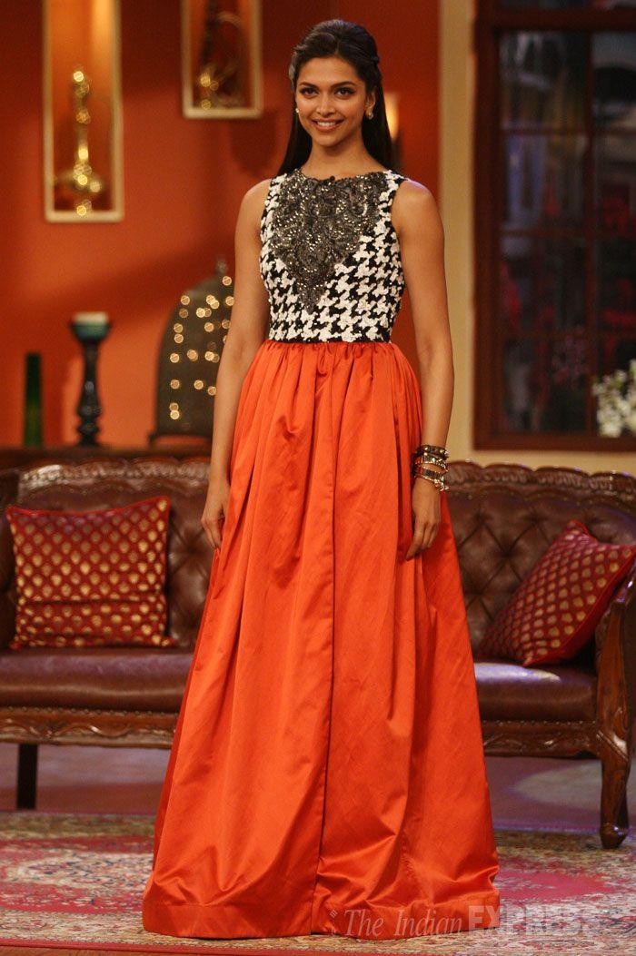 Deepika Padukone Wearing Houndstooth on the Set of Comedy