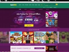 Bet365 Bingo Review – £1000 Free Bingo + Up to £120 Welcome Pack