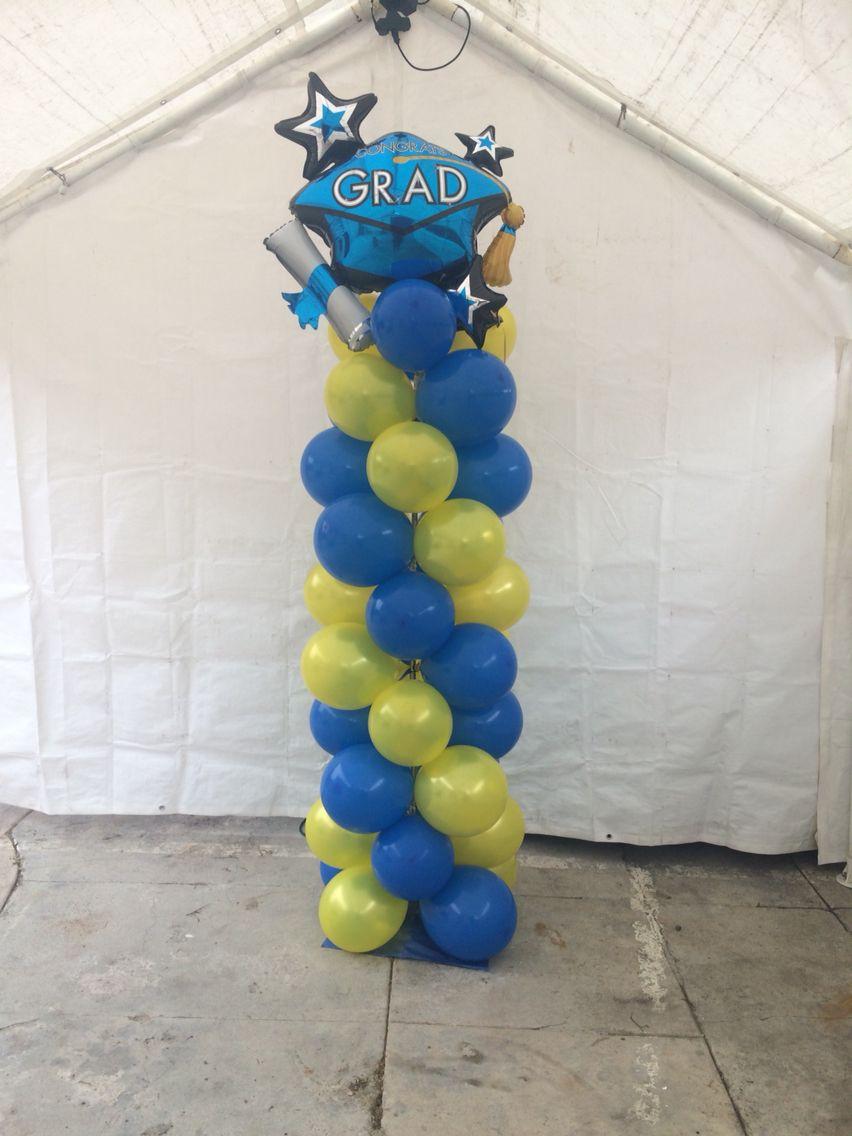 Graduation balloon tower party pinterest