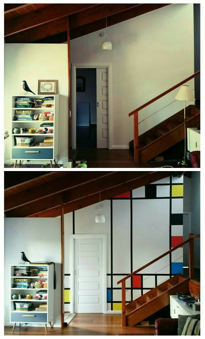 Home mural Mondrian